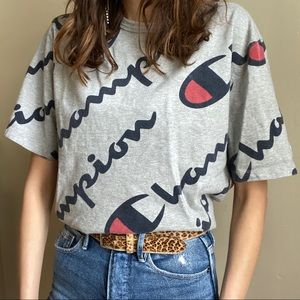 Champion all over logo tee